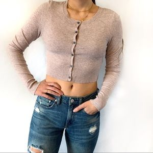 American Eagle Cropped Cardigan Size Small
